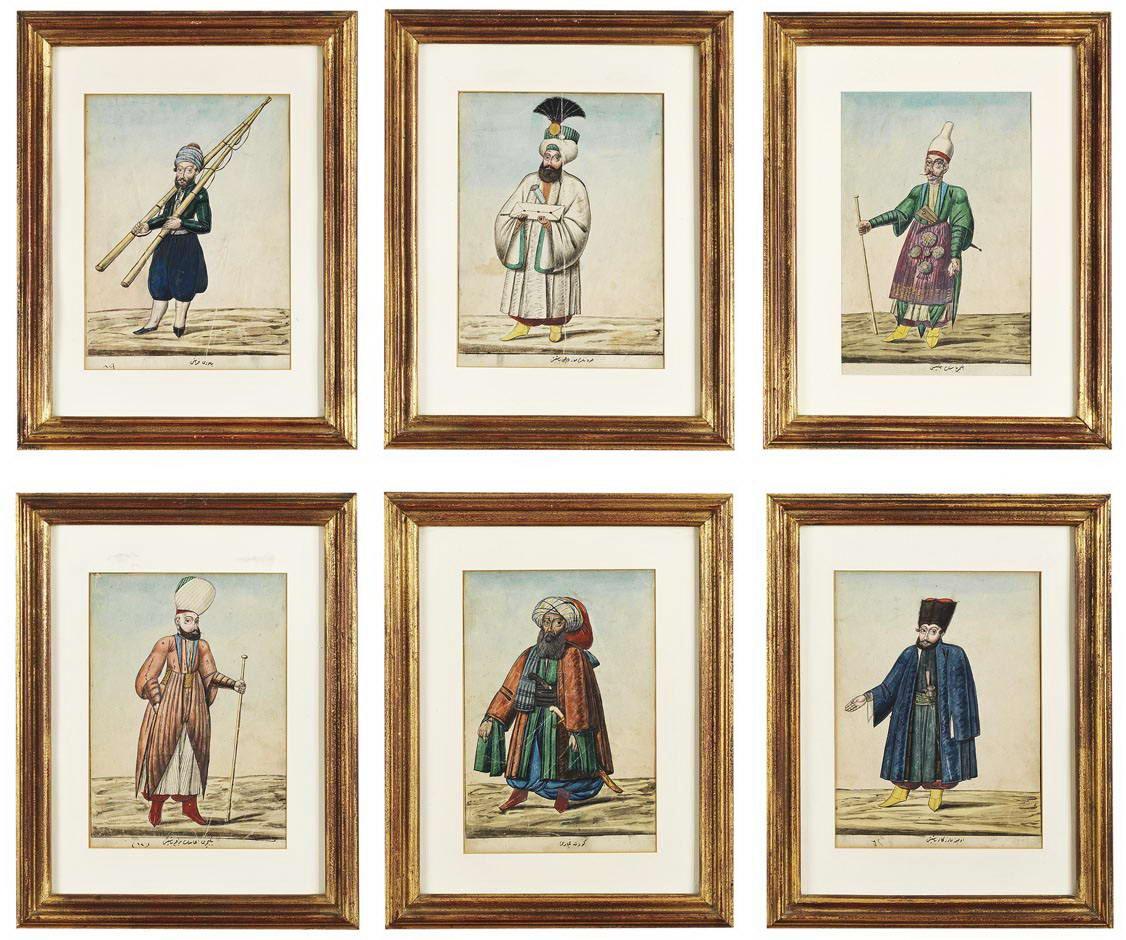 Çarşı Ressamları Albümünden 6 Adet Figür - AlifArt Auction Sale