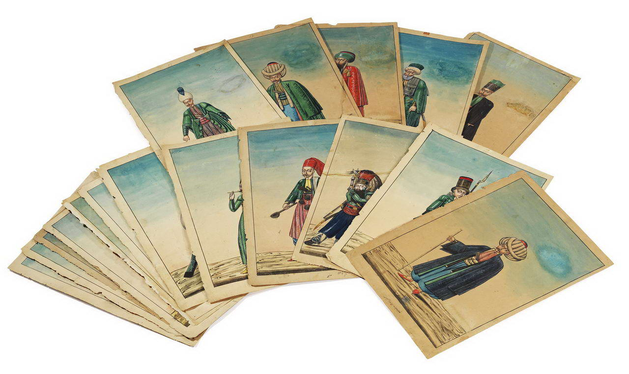 Çarşı Ressamları Albümünden 18 Adet Figür - AlifArt Auction Sale